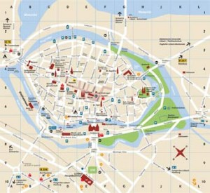 Cartina di Lubecca